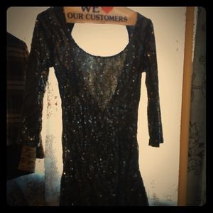 Bershka patterned sequins bodycon dress